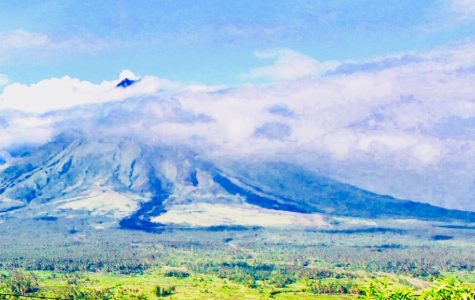 Mayon Volcano Blows Off Steam