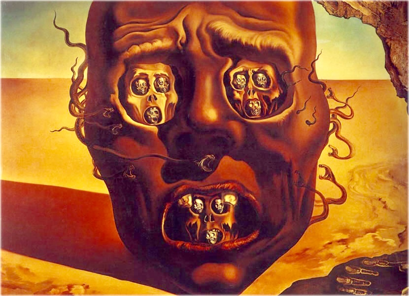 The Face of War by Salador Dalí