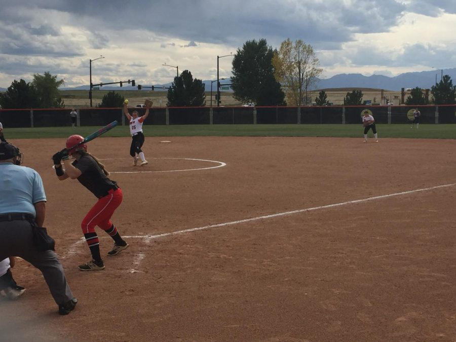 Madie Leach winds up for a pitch