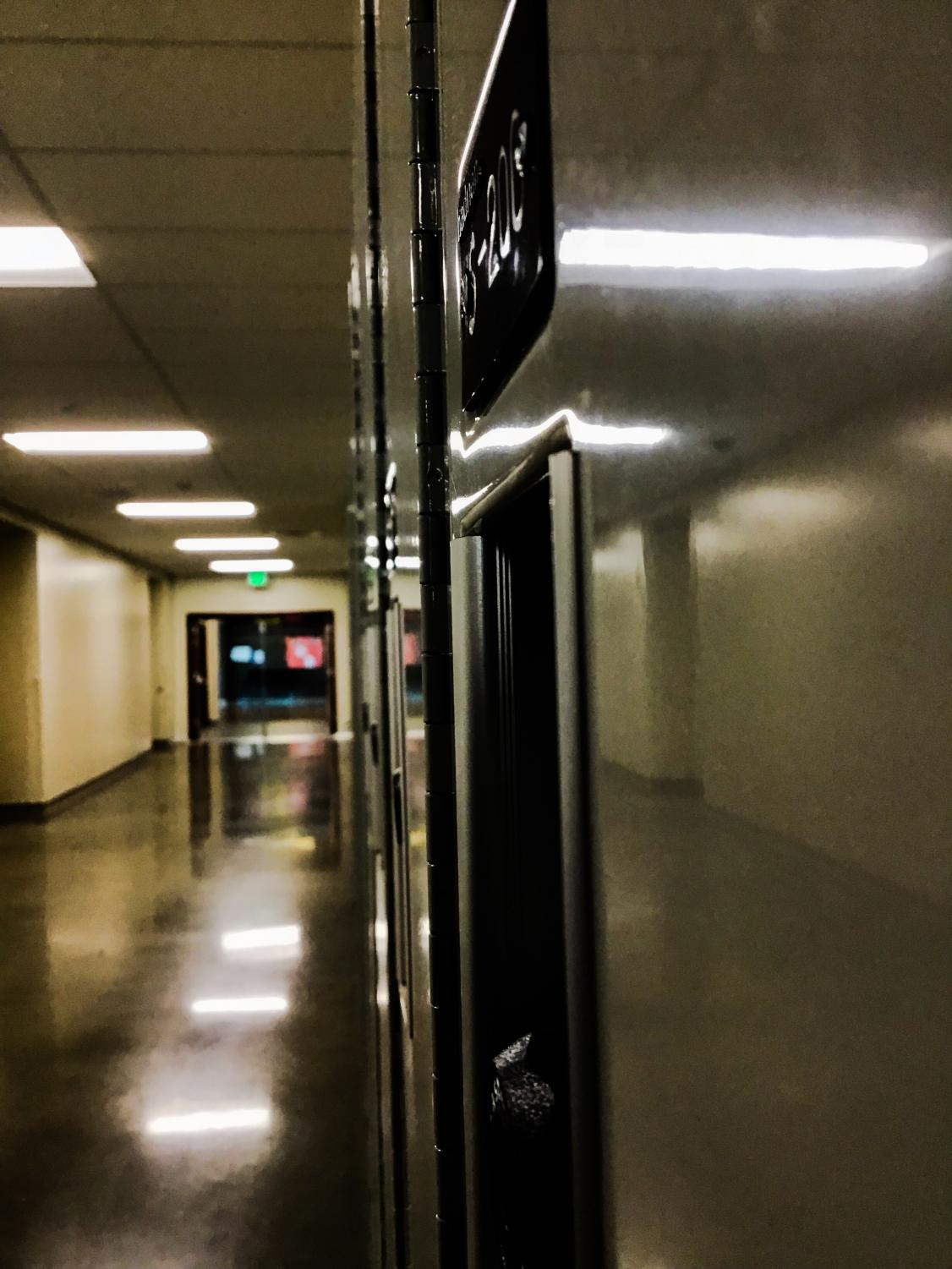 S wing hallway, picture by Erica Pickering