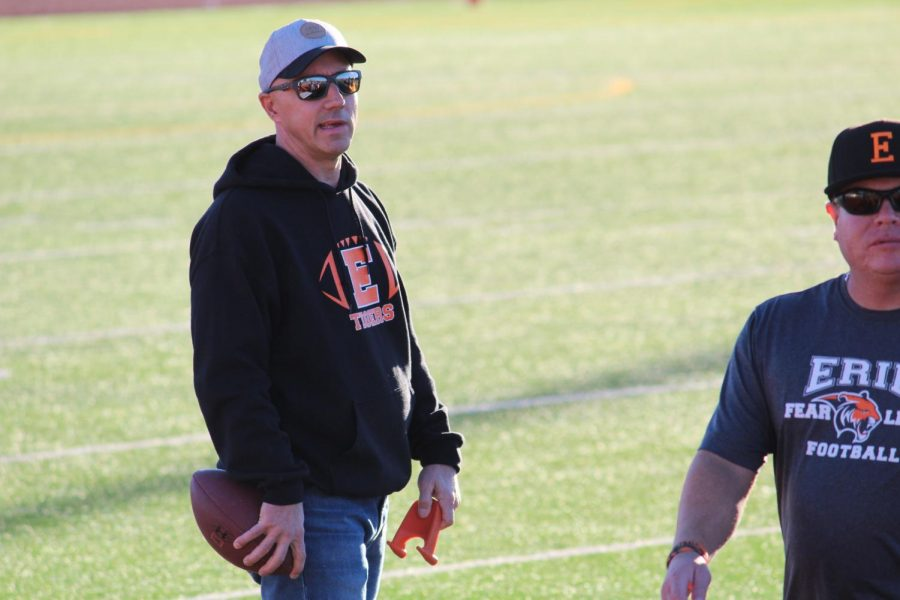 10u Football Coach Scott Hahn.