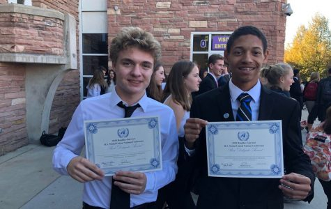 Brady McCay (left) and Christian Brooks (right) show off their achievement!  Picture provided by Brady McCay
