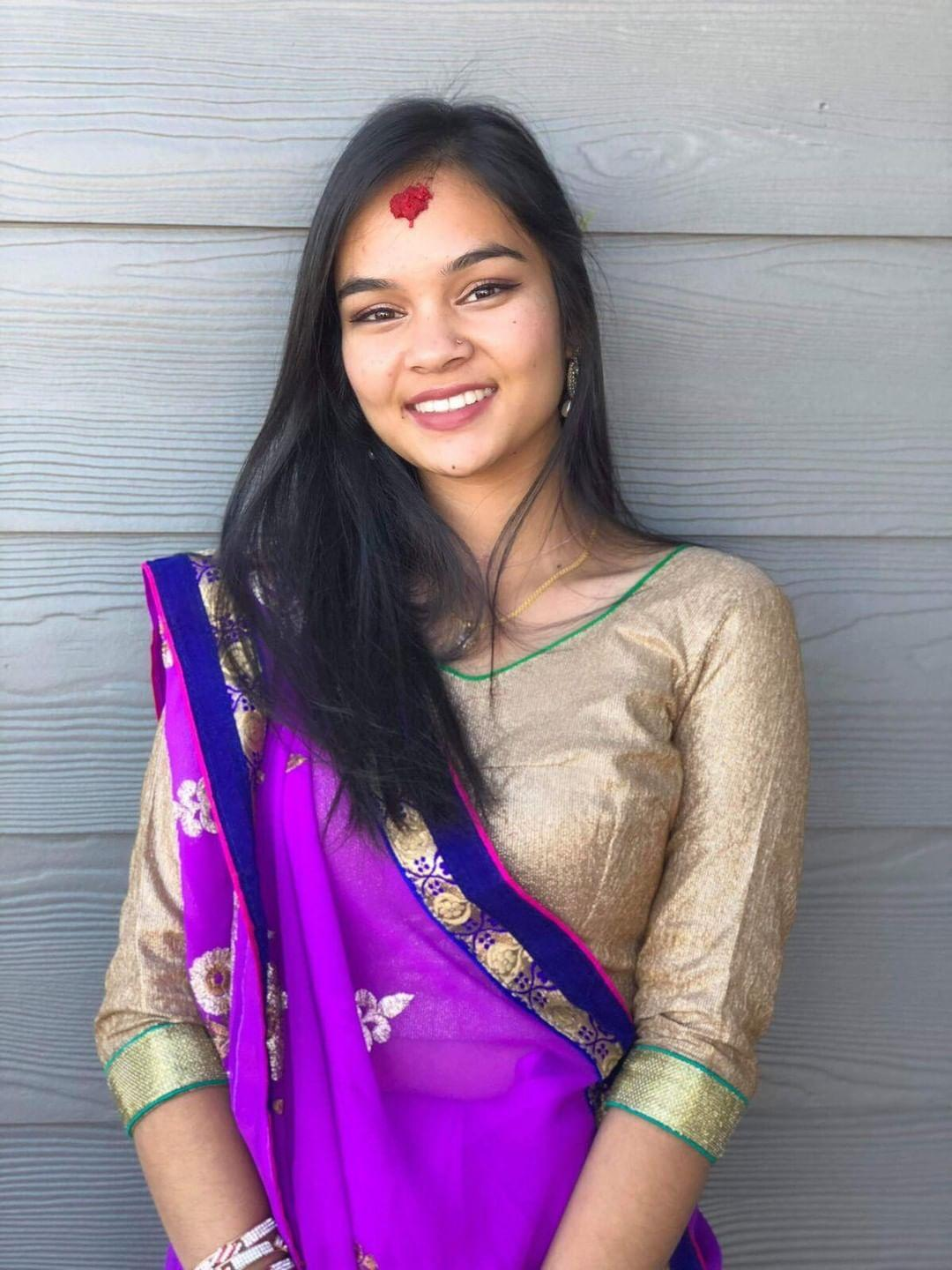 Kahtri poses in her traditional attire after performance