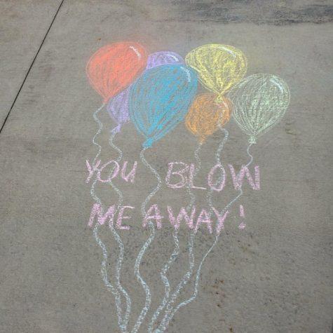 Inspiring chalk drawing by Megan Rackov
