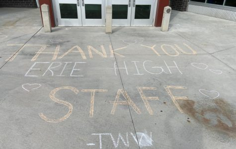 Chalk It Up to Experience- Erie Students Give Back to Staff Members