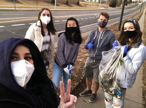 The Green Team picking up trash in Westminster