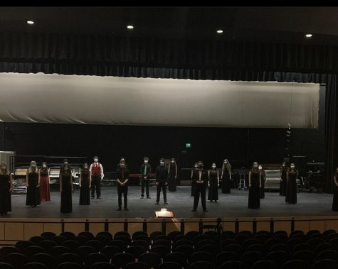 """Seniors in choir performing """"This Christmastide"""" this past December."""