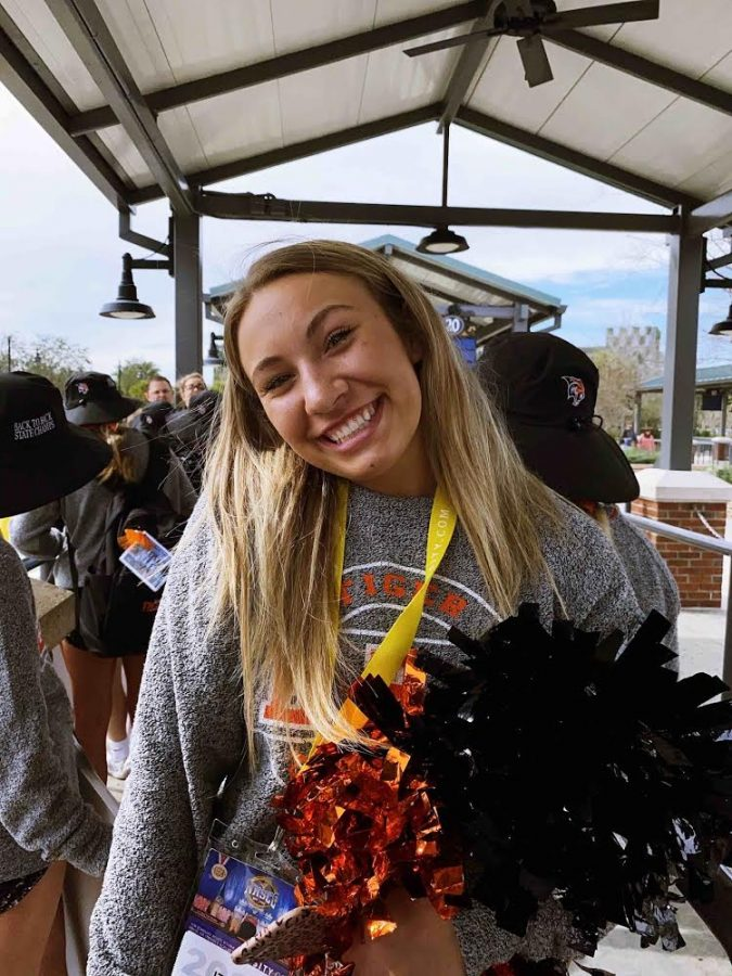 Izzy at the National High School Cheerleading Championship (NHSCC)